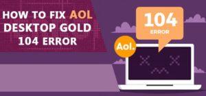 AOL Desktop Gold Error Code 104