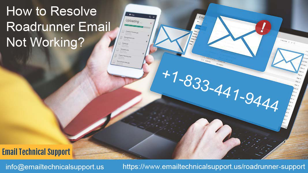 Fix Roadrunner Email Not Working Issue | 833-441-9444