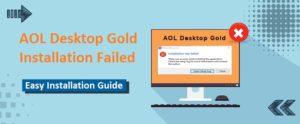 AOL Desktop Gold Installation Failed