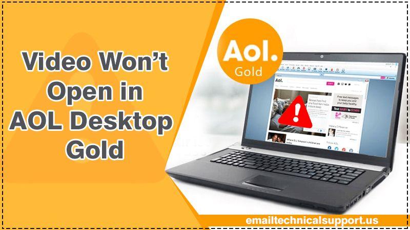 Fix Video Won't Open in AOL Desktop Gold