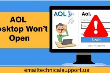 AOL Desktop Won't Open
