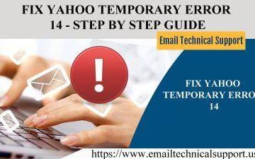 Fix Yahoo temporary error 14