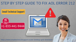 Fix AOL Error 212