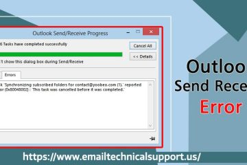 Outlook-send-receive-error