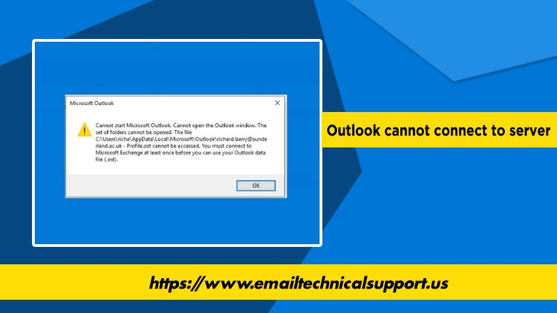 Outlook Cannot Connect to Server Error