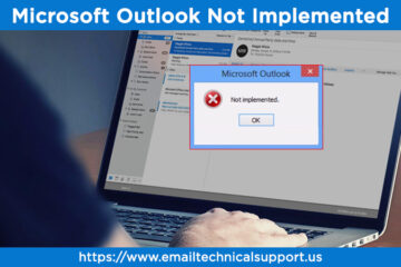 Microsoft Outlook not implemented