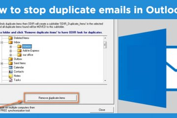 How to stop duplicate emails in Outlook