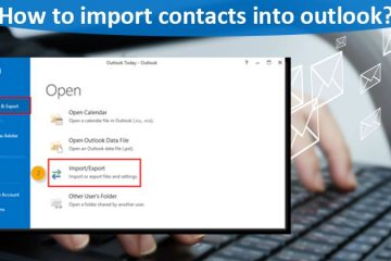 How to import contacts into outlook?