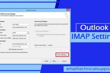 Outlook IMAP Settings