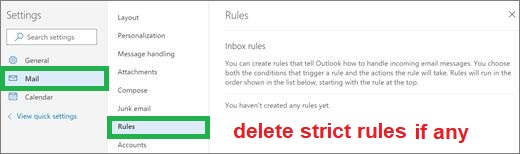 Delete any outlook strict rule