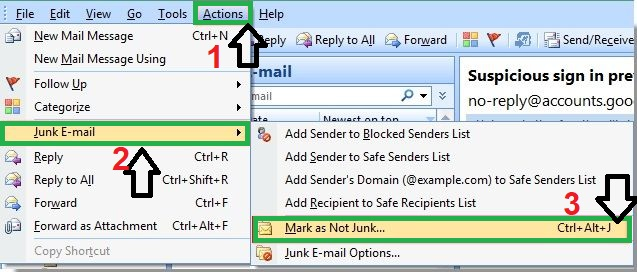 Look for the email in junk folder