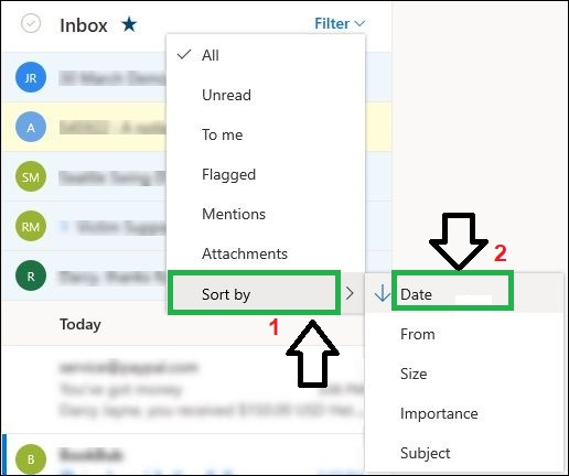 Remove unwanted items from Outlook's inbox filter