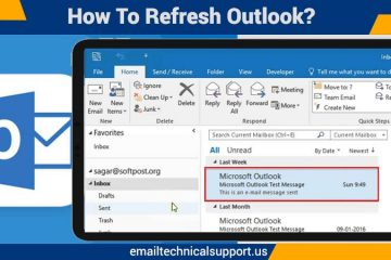 How to refresh Outlook?