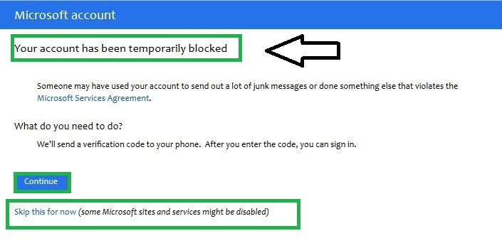 check if your account is blocked