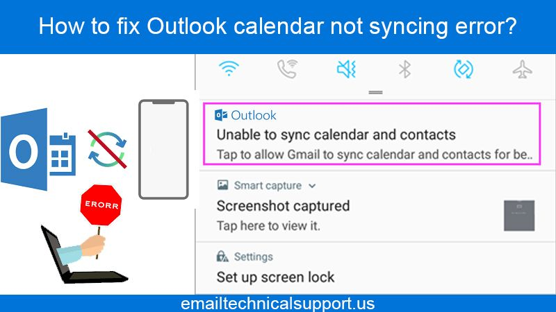 How to fix Outlook calendar not syncing error?