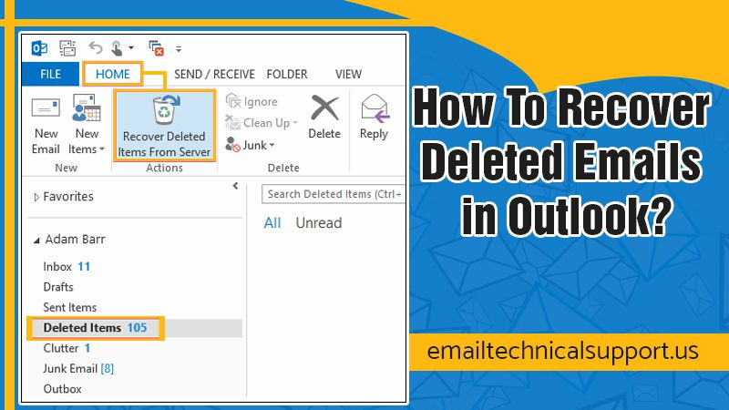 How to recover deleted emails in Outlook