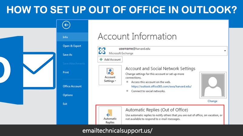 How To Set Up Out Of Office In Outlook