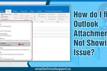 Outlook attachments not showing