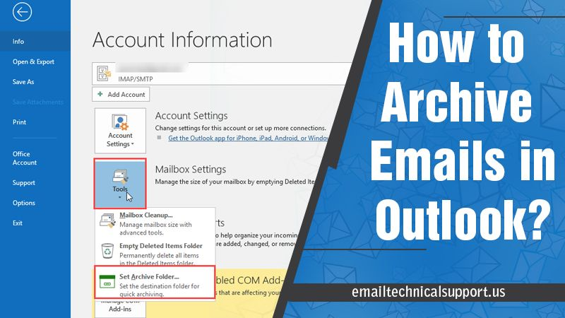 How to archive emails in Outlook