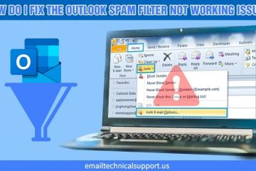 Outlook spam filter not working