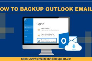How to backup Outlook email